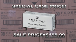 SALE---1000 rounds Federal 115gr FMJ 9mm only $199.99! *expired*