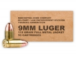 Reminton Law Enforcement 115GR 9MM FMJ 500 CT