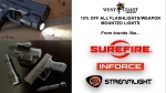 15% off all in stock flashlights/weapon mounted lights! *expired*