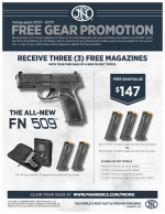 3 FREE Magazines for your new FN-509 pistol!