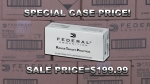 SALE---1000 rounds Federal 115gr FMJ 9mm only $199.99!