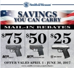 Smith & Wesson Savings You Can Carry Rebate *EXPIRED*